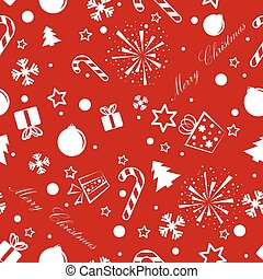 Christmas seamless background red