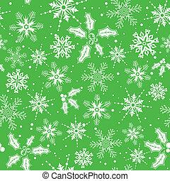 Christmas seamless background with snowflake, mistletoe,...