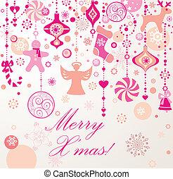 Christmas seamless border