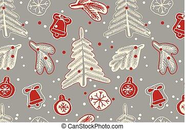 Christmas seamless cute pattern.