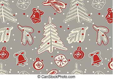 Christmas seamless cute pattern.