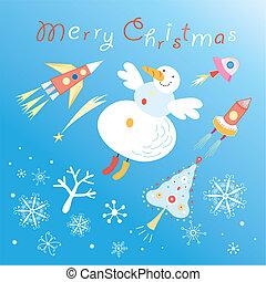 Christmas seamless graphic pattern
