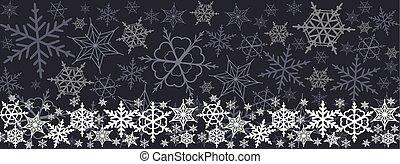 Christmas seamless horizontal pattern. colorful snowflakes