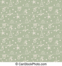 Christmas seamless light vector background with toy, star,...