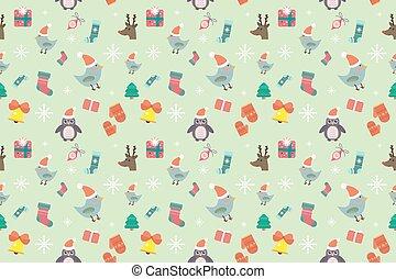 Christmas seamless pattern background