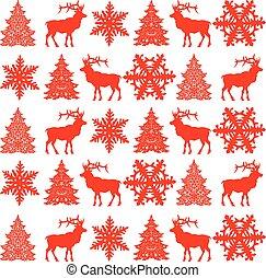 Christmas seamless pattern design