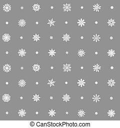 Christmas seamless pattern from multicolored snowflakes on background
