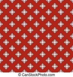 Christmas seamless pattern from snowflakes on blue background