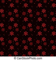 Christmas seamless pattern of red snowflakes on black eps 10