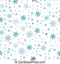 Christmas seamless pattern of snowflakes, gray on white background