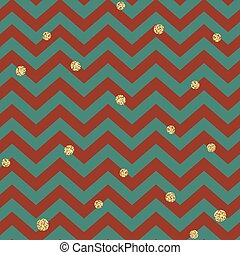 Christmas Seamless pattern. Red, Gold and Green. Glittering golden surface. Template for Greeting Scrapbooking, Congratulations, Invitations, Packaging.