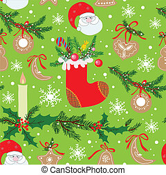 Christmas seamless pattern.