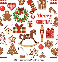 Christmas seamless pattern vector. decore Images
