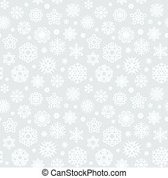 Christmas Seamless Pattern with a Snowflakes Light