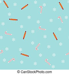 Christmas seamless pattern with candies. Vector illustration.