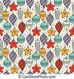 Christmas seamless pattern with christmas symbols