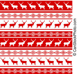 Christmas seamless pattern with deer. EPS 8