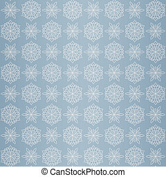 Christmas seamless pattern with snowflake, blue