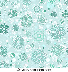 Christmas seamless pattern with snowflakes. EPS 8