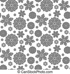 Christmas seamless pattern with snowflakes. New Year background. Vector illustration.