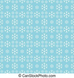 Christmas seamless pattern with snowflakes on a blue background.