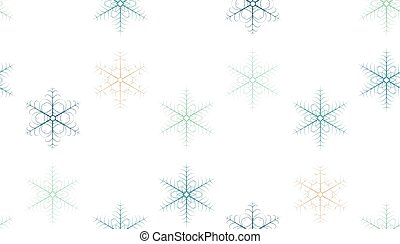 Christmas seamless pattern with snowflakes on white background.