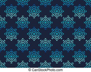 Christmas seamless pattern with snowflakes. Vector illustration