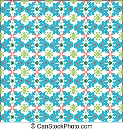 Christmas seamless pattern with snowman