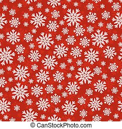 Christmas seamless pattern with white red snowflakes
