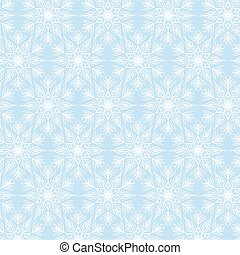 white snowflakes on blue