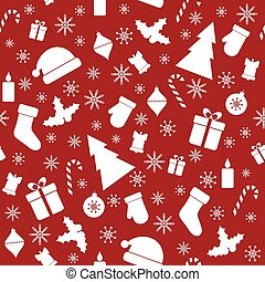 Christmas seamless red pattern