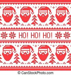 Christmas seamless Santa pattern