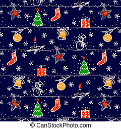 Christmas seamless vector background