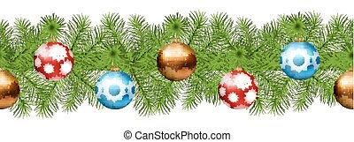 Christmas Seamless Vector Garland