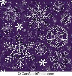 Christmas Seamless violet Pattern