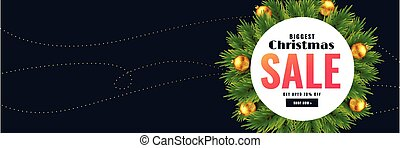 christmas season sale banner with text space