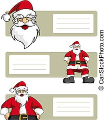 Christmas series: Santa Claus character with blank lables -...