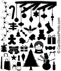 Christmas Set - Christmas set isolated on white