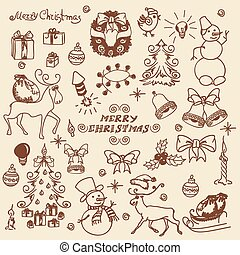 Christmas set doodles