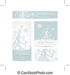 Christmas set for print cards - Merry christmas, set of...