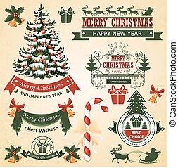 Christmas set of elements for desig