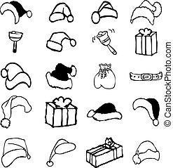 Christmas set of sketch