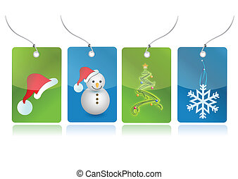 Christmas set of tags illustration