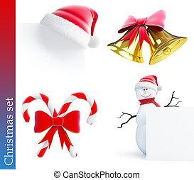 christmas set on a white background