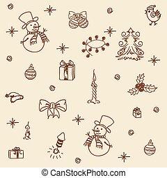 Christmas set seamless