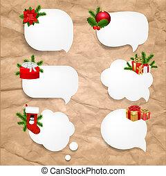 Christmas Set Speech Bubble