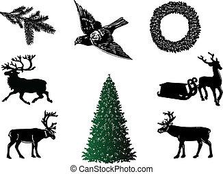 Christmas set-vector