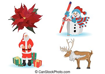 Christmas set, vector illustration