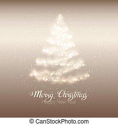 Christmas shining tree