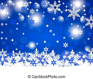 Christmas shiny blue background